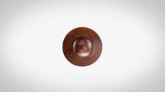 Censored 3D Animated Round Wooden Stamp Animation Stock Footage