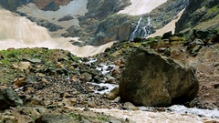 Ice Cold Glacial Water Stock Footage