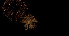 Golden abstract blinking sparkle celebration fireworks lights Stock Footage
