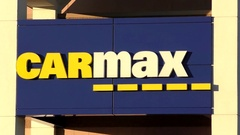 CarMax used car dealership, storefront Stock Footage