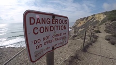 Dangerous Conditions Sign Stock Footage