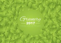 Color of the year 2017 Greenery abstract background Stock Illustration