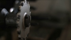 Footage of the drill bits' manufacturing machine Stock Footage