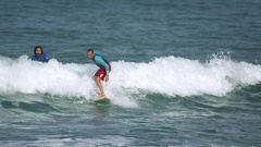 Water Sport -  surfer in the sea Stock Footage