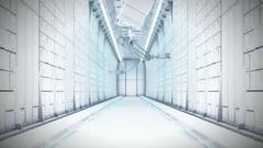 Futuristic Server Room 4k animation Stock Footage