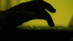 Male hand slowly tapping with finger on a keyboard Stock Footage