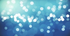 Christmas gradient blue background with bokeh flowing Stock Footage