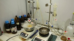 Experiment chemistry, extract plants, bubbles research laboratory science Stock Footage