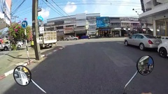 Phuket Town - Speed driving through busy Phuket Town on the Stock Footage