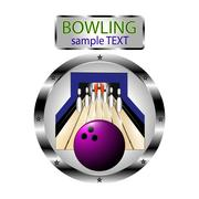 Theme of bowling Piirros