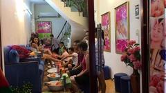 Foot massage in Vietnam Stock Footage