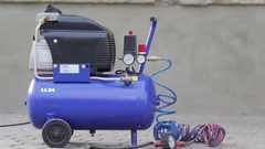 Air compressor outdoors Stock Footage
