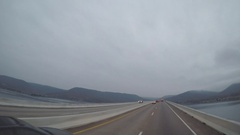 Wide Angle POV Driving Shot -  Lake Altoona, GA, USA Stock Footage