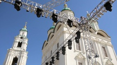 A concert area for church rock Stock Footage