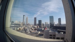 Time Lapse Shot of Downtown Atlanta From the 24th Floor of the Omni Hotel Stock Footage