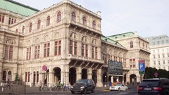VIENNA, AUSTRIA - DECEMBER, 24 Steadicam shot of Wiener Staatsoper, State Opera Stock Footage