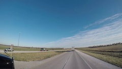 Wide Angle POV Driving Shot -  A Tanker Truck passes in Rural Kentucky, USA Stock Footage