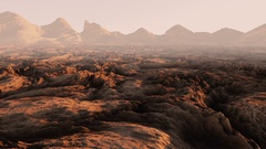 Mars surface, landscape. Aeril view. Realistic animation. Stock Footage