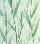 Lush thickets Stock Illustration