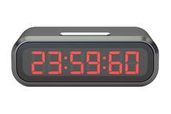 Leap second on watches concept, 3D rendering Stock Illustration