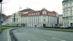 VIENNA, AUSTRIA - DECEMBER, 24 Steadicam shot of Wiener Konzerthaus, famous Stock Footage