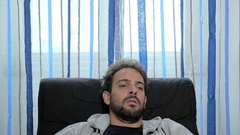 Patient lying on the couch exposes its problems to the therapist Stock Footage