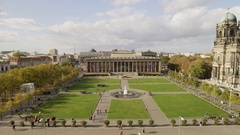Old Museum and Berlin Cathedral Stock Footage
