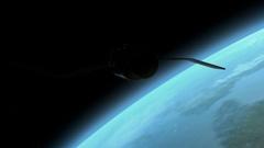 Satelite in earth orbit Stock Footage