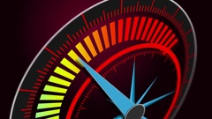 Speedometer shows the maximum high speed motion blur Stock Footage
