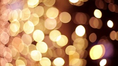 Abstract footage of some defocused lights Stock Footage