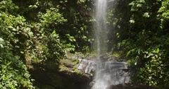 Waterfall Ahuashiyacu in Peru. Rain forest in Amazon region Stock Footage