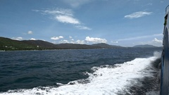 Side View From Boat on Island Stock Footage