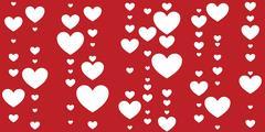 Seamless decorative hearts Stock Illustration