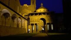 FLORENCE, ITALY: Courtyard of Basilica di Santa Croce di Firenze Stock Footage