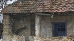 XIX Century Stone House Stock Footage