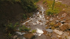 Mountain River in the rainforest.Camiguin island Philippines Stock Footage