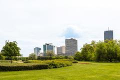 View on vienna international center Stock Photos