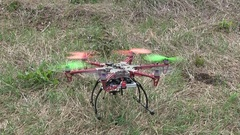 Drone hard tries fly up Stock Footage