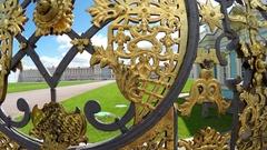 Katherine's Palace hall in Tsarskoe Selo Pushkin, Russia Stock Footage