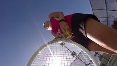 Women playing tennis, slow motion. Stock Footage