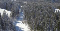 Ski Resort On The Beautiful Location Stock Footage