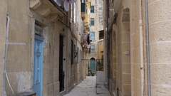 Valletta, Malta - streets and buildings architecture city view Stock Footage