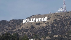 Hollywood Sign Snap-Zoom out Stock Footage