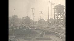Vintage 16mm film, 1930 Railroad, Boston and Maine 1928 Baldwin... Stock Footage
