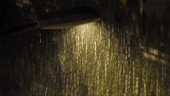 Heavy Rain with sound of thunders Stock Footage
