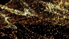 4k Abstract gold particle on black Stock Footage