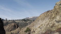 Hollywood Sign Zoom in 4K Stock Footage