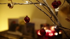 Christmas tree decor in Europe Stock Footage