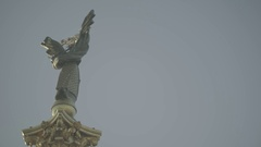 A Symbol Of Ukraine. The monument in the center of Kiev . Independence square Stock Footage