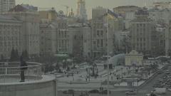 Architecture Of Kiev. Ukraine. City center Stock Footage